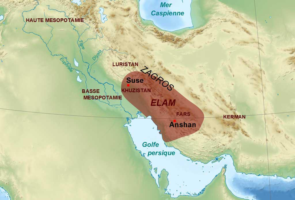 Elam kingdom map Iran Vipemo